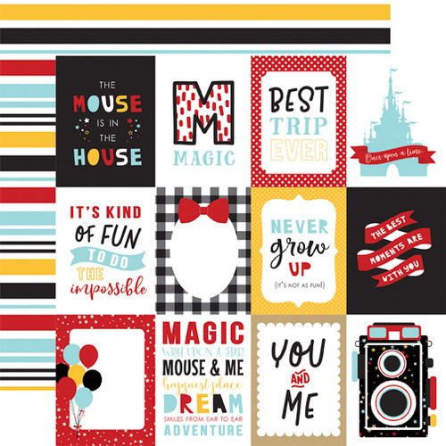 Magical Adventure 2 Collection 3 x 4 Journaling Cards 12 x 12 Scrapbook Paper by Echo Park Paper