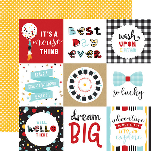 Magical Adventure 2 Collection 4 x 4 Journaling Cards 12 x 12 Scrapbook Paper by Echo Park Paper