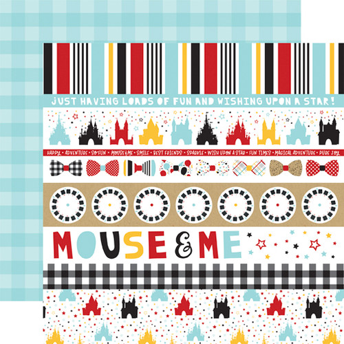 Magical Adventure 2 Collection Border Strips 12 x 12 Scrapbook Paper by Echo Park Paper