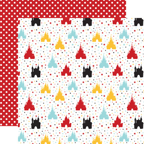 Magical Adventure 2 Collection Happiest Place 12 x 12 Scrapbook Paper by Echo Park Paper