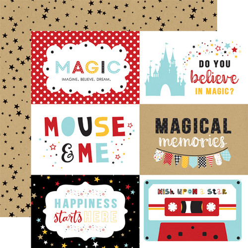 Magical Adventure 2 Collection 6 x 4 Journaling Cards 12 x 12 Scrapbook Paper by Echo Park Paper