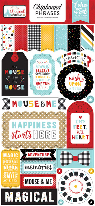 Magical Adventure 2 Collection Magical Adventure 2 6 x 13 Chipboard Phrases by Echo Park Paper
