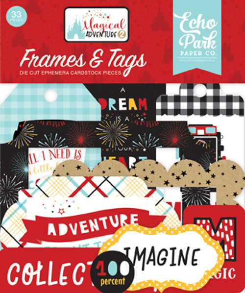Magical Adventure 2 Collection Magical Adventure 2 Frames & Tags Scrapbook Die Cuts by Echo Park Paper