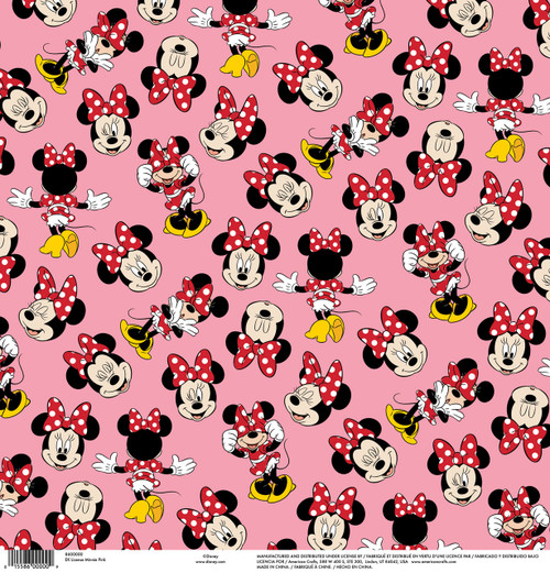 Disney Collection Minnie Pink 12 x 12 Scrapbook Paper by American Crafts