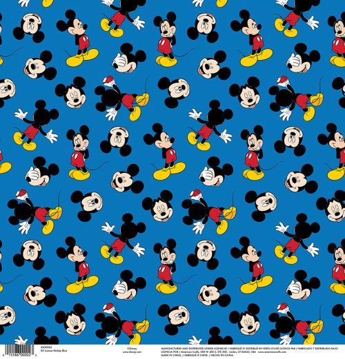 Disney Collection Mickey Blue 12 x 12 Scrapbook Paper by American Crafts
