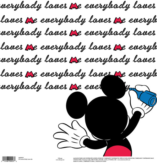 Disney Collection Mickey Everybody Loves Me 12 x 12 Scrapbook Paper by American Crafts