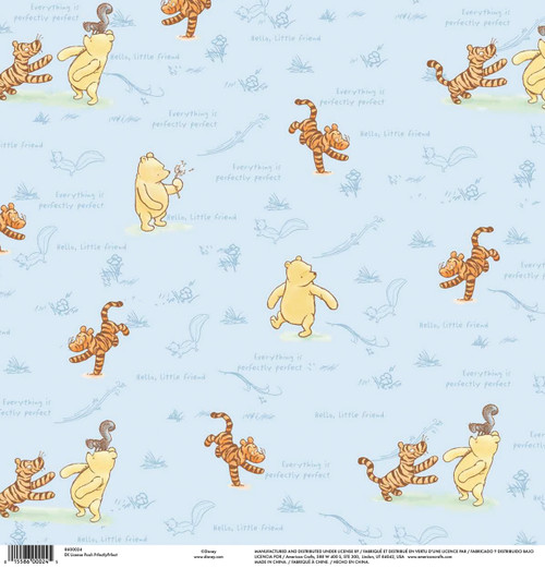 Winnie The Pooh Collection Perfectly Perfect 12 x 12 Scrapbook Paper by American Crafts