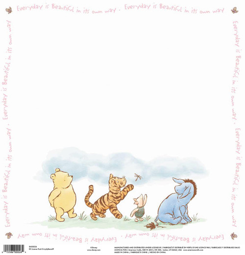 Winnie The Pooh Collection Everyday Beautiful 12 x 12 Scrapbook Paper by American Crafts