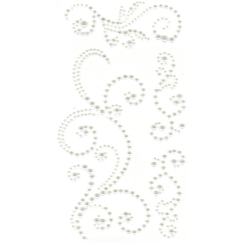 Our Brads Need Friends Collection 4 x 7 White Pearl Swirl Scrapbook Bling by Eyelet Outlet