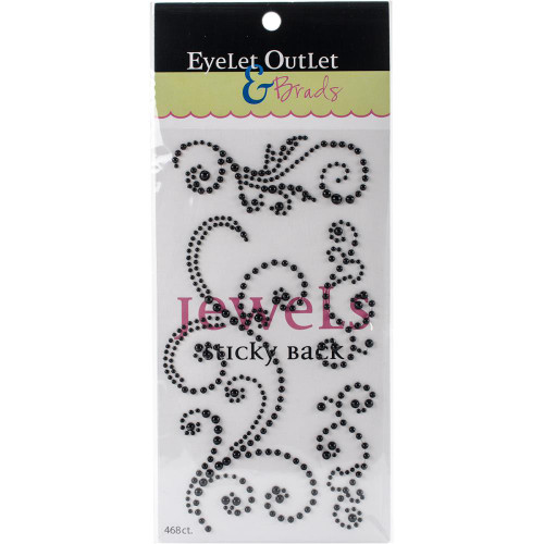 Our Brads Need Friends Collection 4 x 7 Black Pearl Swirl Scrapbook Bling by Eyelet Outlet