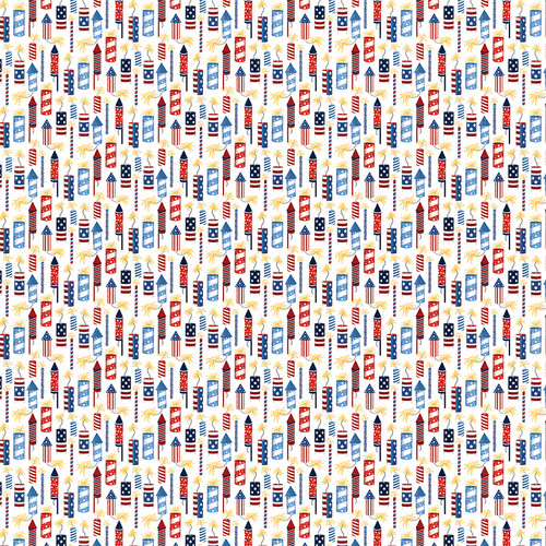 Land Of The Free Collection Rockets 12 x 12 Double-Sided Scrapbook Paper by Photo Play Paper