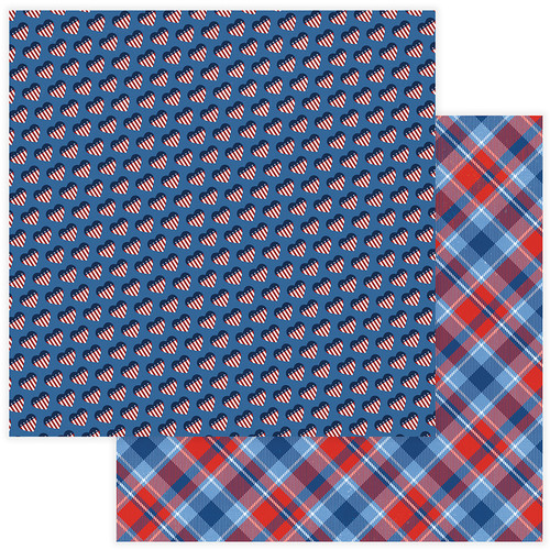 Land Of The Free Collection Stars & Stripes 12 x 12 Double-Sided Scrapbook Paper by Photo Play Paper