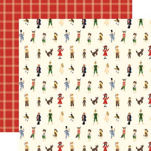 Lost In Neverland Collection Lost Boys 12 x 12 Double-Sided Scrapbook Paper by Echo Park Paper
