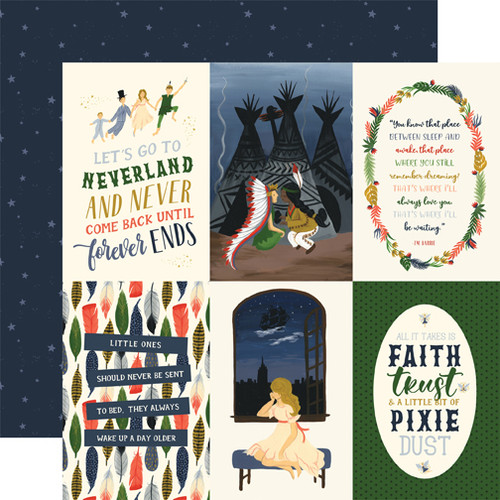 Lost In Neverland Collection 4X6 Journaling Cards 12 x 12 Double-Sided Scrapbook Paper by Echo Park Paper