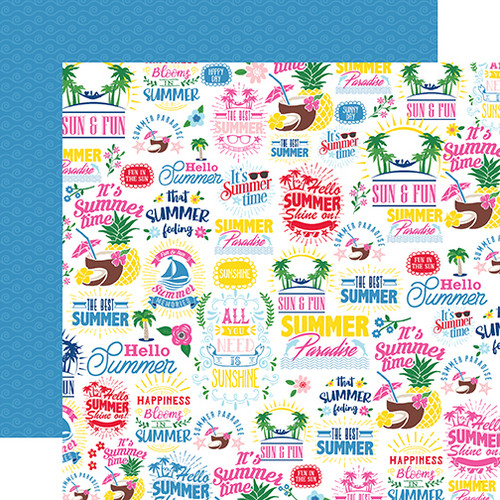 I Love Summer Collection The Best Of Summer 12 x 12 Double-Sided Scrapbook Paper by Echo Park Paper
