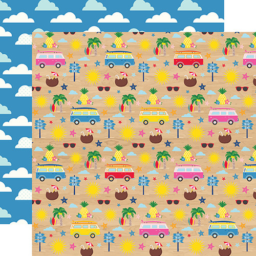 I Love Summer Collection Beach Day 12 x 12 Double-Sided Scrapbook Paper by Echo Park Paper