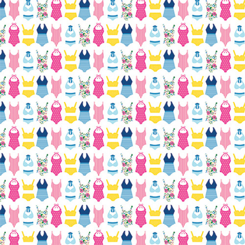 I Love Summer Collection Swimsuits 12 x 12 Double-Sided Scrapbook Paper by Echo Park Paper