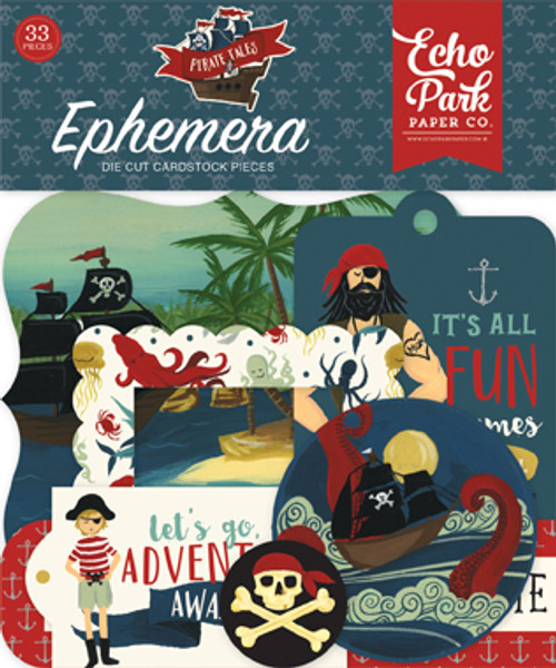 Pirate Tales Collection Ephemera Die Cut Cardstock Scrapbook Pieces by Echo Park Paper