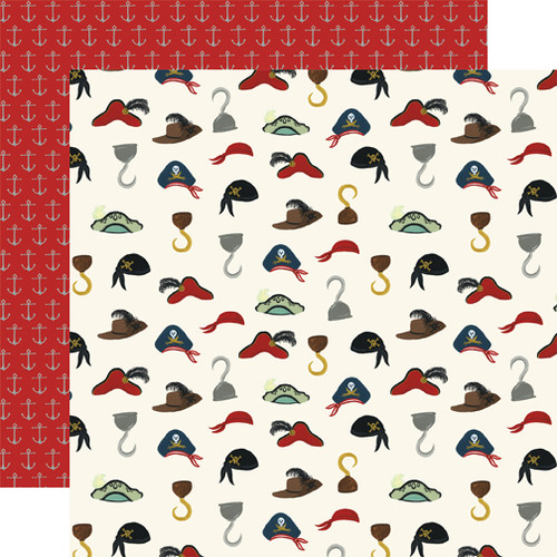 Pirate Tales Collection Ahoy Matey 12 x 12 Double-Sided Scrapbook Paper by Echo Park Paper