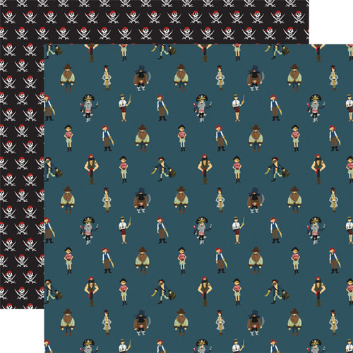 Pirate Tales Collection A Pirate's Life 12 x 12 Double-Sided Scrapbook Paper by Echo Park Paper
