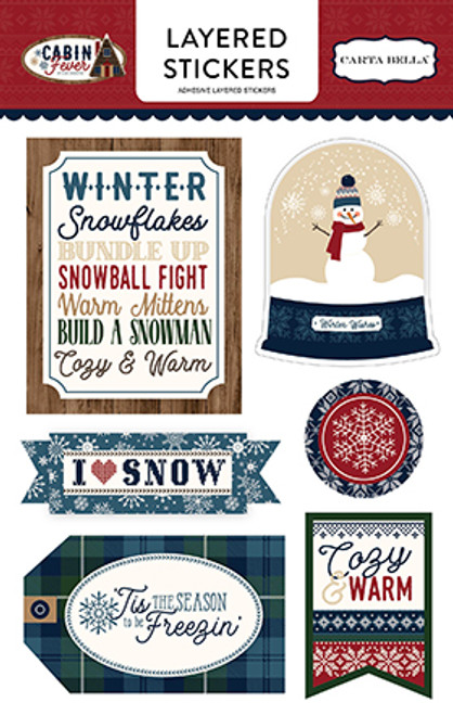 Cabin Fever Collection 5 x 7 Layered Sticker Scrapbook Embellishment by Carta Bella