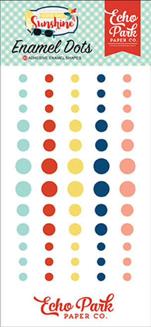 Good Day Sunshine Collection 3 x 6 Adhesive Enamel Dots by Echo Park Paper