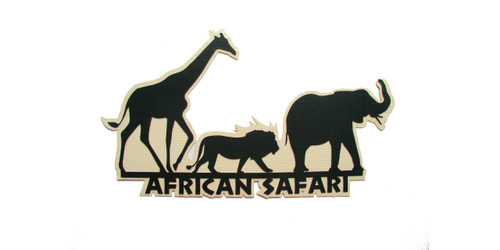 African Safari 4 x 8 Laser Cut Scrapbook Embellishment by SSC Laser Designs