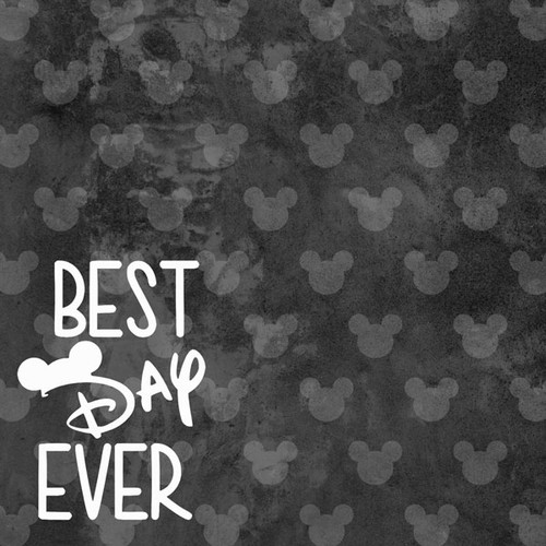 Magical Day of Fun Collection Best Day Ever 12 x 12 Double-Sided Scrapbook Paper by Scrapbook Customs