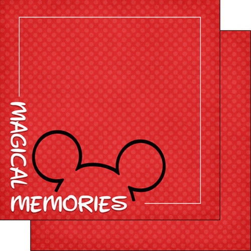 Magical Day of Fun Collection Magical Memories Corner 12 x 12 Double-Sided Scrapbook Paper by Scrapbook Customs