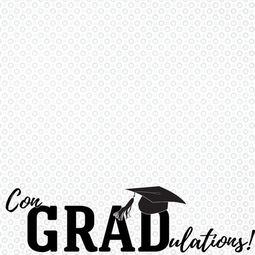 Graduation Day Collection ConGRADulations 12 x 12 Scrapbook Paper by Scrapbook Customs