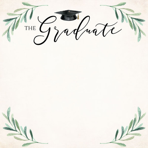 Graduation Day Collection The Graduate 12 x 12 Double-Sided Scrapbook Paper by Scrapbook Customs