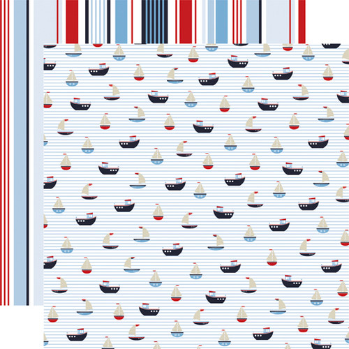 Deep Blue Sea Collection Nautical 12 x 12 Double-Sided Scrapbook Paper by Carta Bella