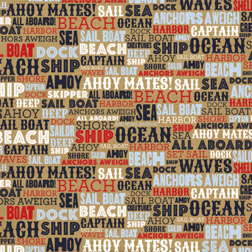 Deep Blue Sea Collection Ahoy Mates 12 x 12 Double-Sided Scrapbook Paper by Carta Bella