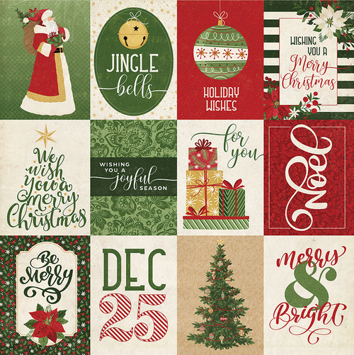 Christmas Memories Collection Joyful Season 12 x 12 Double-Sided Scrapbook Paper by Photo Play Paper