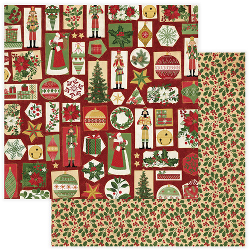 Christmas Memories Collection Tis The Season 12 x 12 Double-Sided Scrapbook Paper by Photo Play Paper