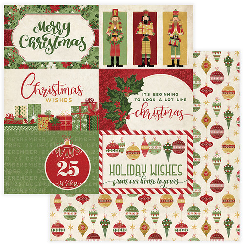 Christmas Memories Collection Holiday Wishes 12 x 12 Double-Sided Scrapbook Paper by Photo Play Paper