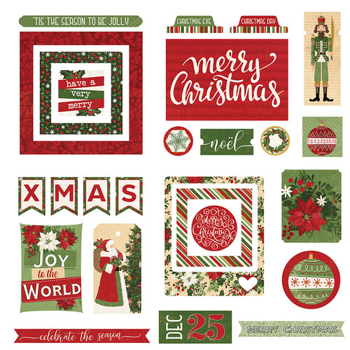 Christmas Memories Collection Ephemera 5 x 5 Scrapbook Die Cuts by Photo Play Paper