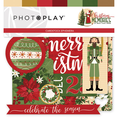 Christmas Memories Collection 4 x 4 Ephemera Die Cuts by Photo Play Paper