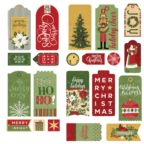 Christmas Memories Collection Ephemera 5 x 5 Tags by Photo Play Paper