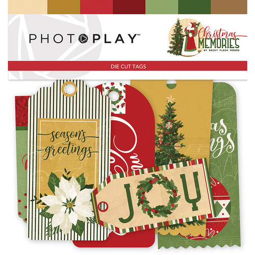 Christmas Memories Collection 4 x 4 Ephemera Tags by Photo Play Paper