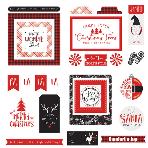 Kringle & Co Collection Ephemera 5 x 5 Scrapbook Die Cuts by Photo Play Paper