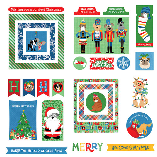Muttcracker Collection 4 x 4 Ephemera Die Cuts by Photo Play Paper