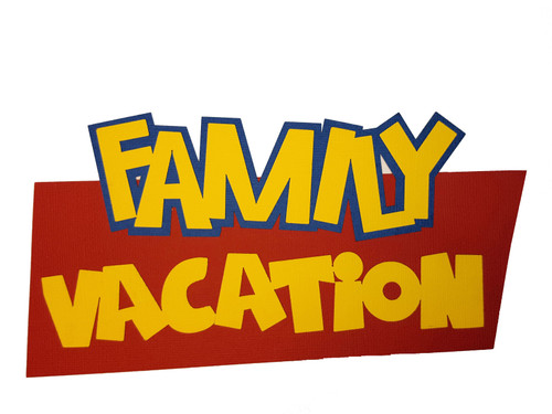Family Vacation Toy Land Fully-Assembled 4 x 8 Laser Title Cut Scrapbook Embellishment by SSC Laser Designs