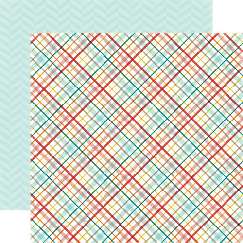 Meow Collection Kitty Plaid 12 x 12 Double-Sided Scrapbook Paper Alisha Gordon & Echo Park Paper