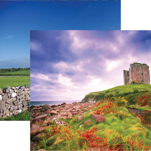 Ireland Collection Dingle Peninsula 12 x 12 Double-Sided Scrapbook Paper by Reminisce