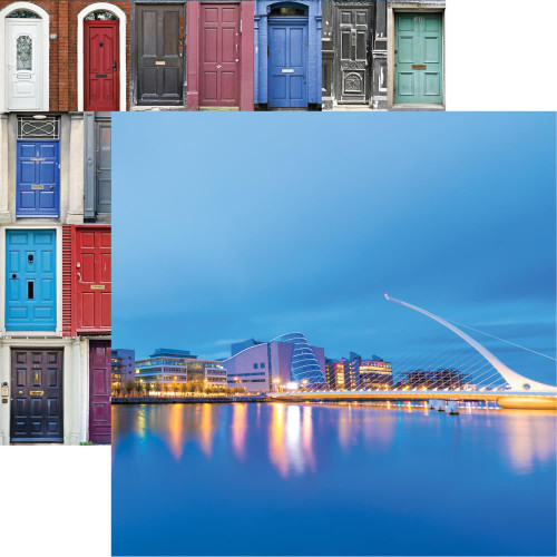 Ireland Collection Samuel Beckett Bridge 12 x 12 Double-Sided Scrapbook Paper by Reminisce