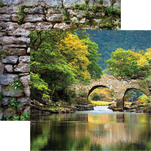 Ireland Collection Killarney National Park 12 x 12 Double-Sided Scrapbook Paper by Reminisce