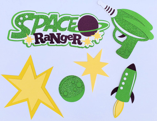 Space Ranger Toy Land Set of 6 Fully-Assembled Cuts Scrapbook Embellishment by SSC Laser Designs