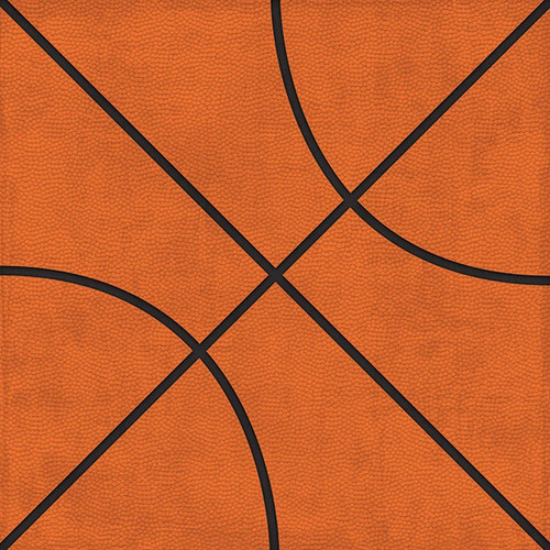 Allstar Basketball Collection Basketball Tags 12 x 12 Double-Sided Scrapbook Paper by Paper House Productions