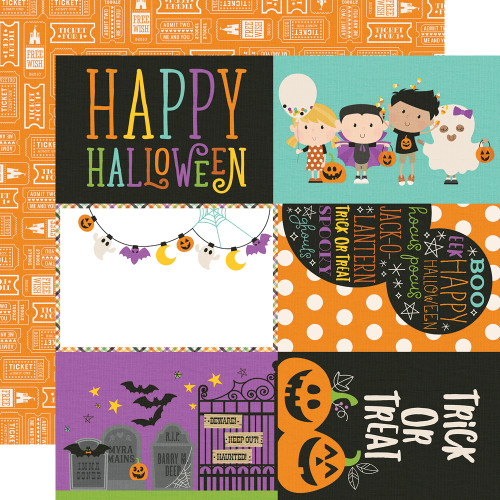 Say Cheese Halloween Collection 4 x 6 Elements 12 x 12 Double-Sided Scrapbook Paper by Simple Stories